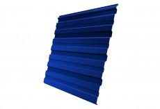 Профнастил Grand Line С10 R Полиэстер Дачный 0,35 мм RAL 5005 Сигнальный синий profGL-ped55