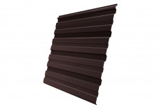 Профнастил Grand Line С10 R Полиэстер Дачный 0,35 мм RAL 8017 Шоколад profGL-ped87